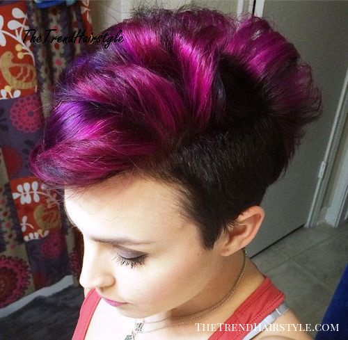 Purple Passion 25 Exquisite Curly Mohawk Hairstyles For