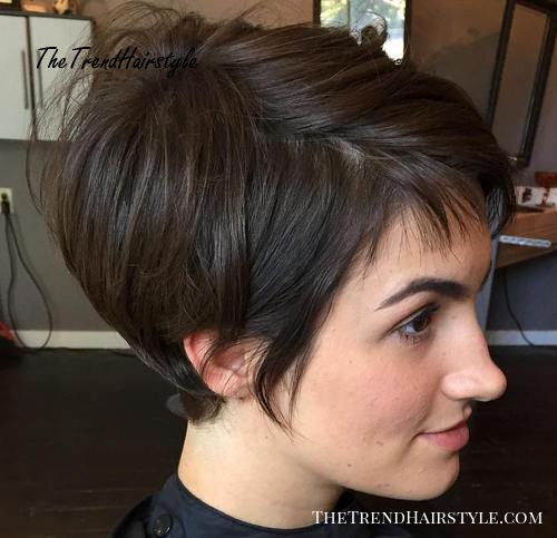 brunette pixie bob haircut