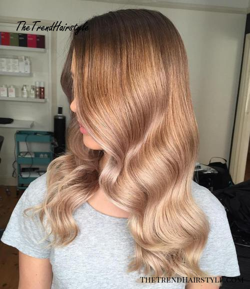 caramel to blonde ombre