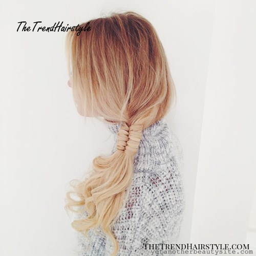 casual side fishtail