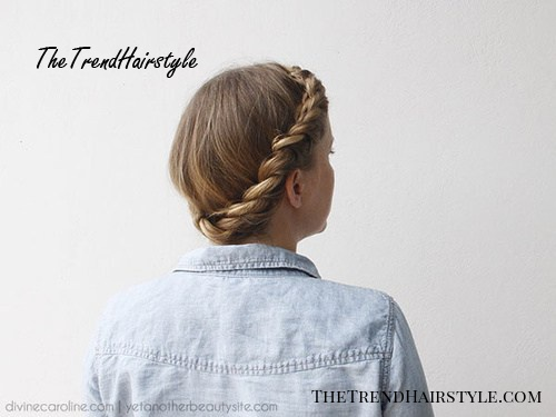 casual twisted updo