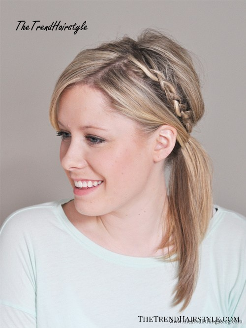 casual updo with a pony and braid