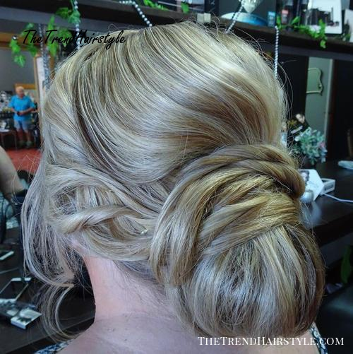 chignon with a twisted base