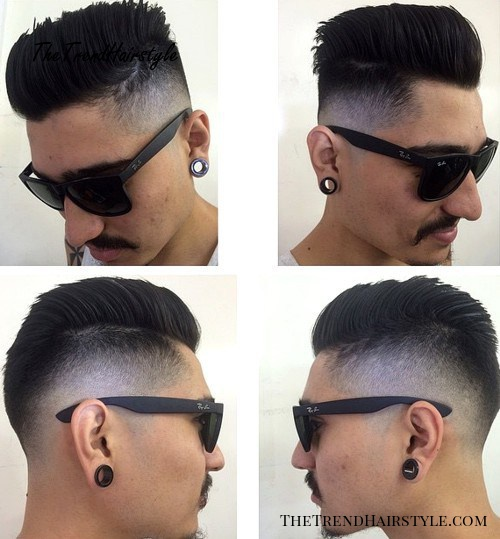 comb over with faded sides