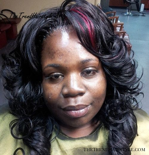 curly layered tree braids hairstyle
