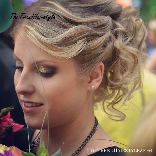 curly pony updo for thin hair
