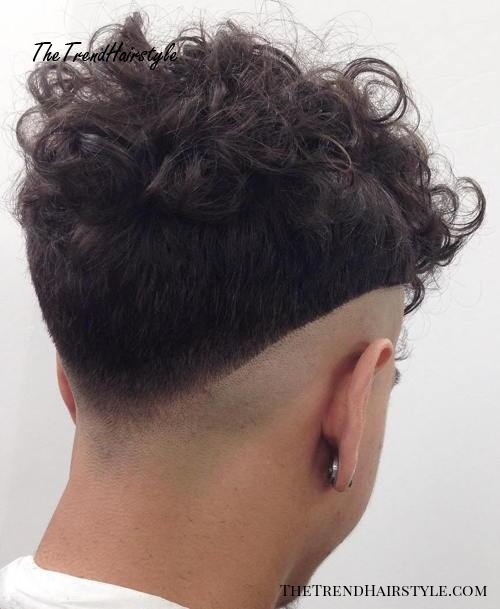 curly top hipster undercut