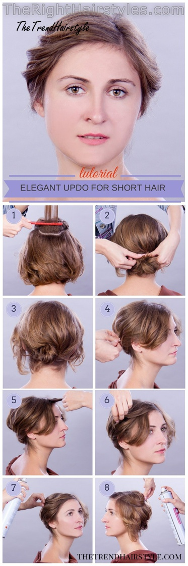 curly updo for short hair tutorial
