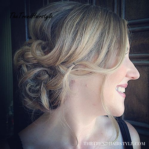 curly updo for thin hair