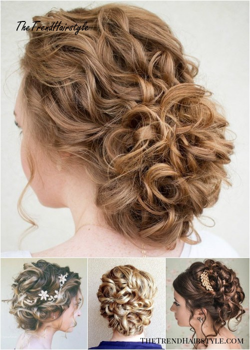 Loose Curly Updos - 60 Easy Updo Hairstyles for Medium ...