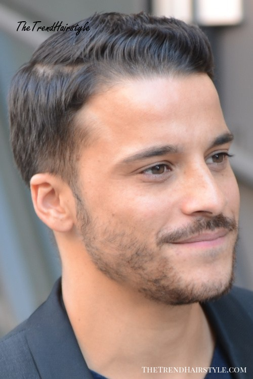 easy side-parted men's hairstyle