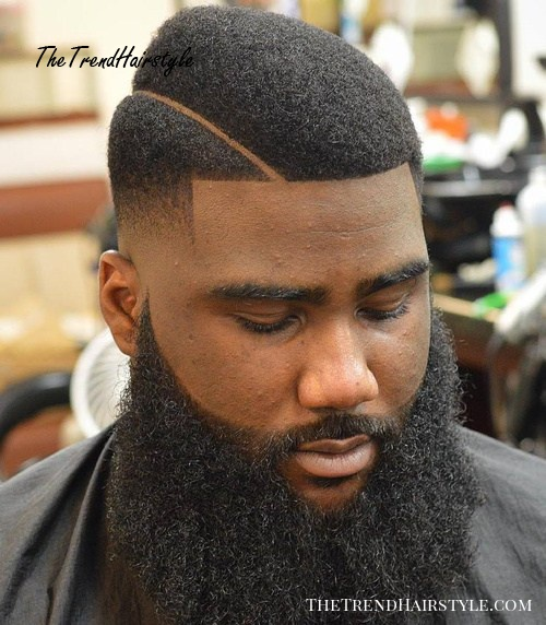 fade with beard for natural hair