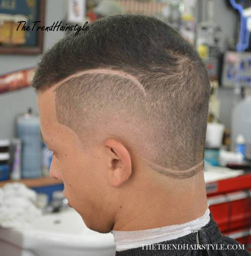 fade with shaved lines