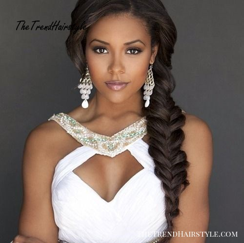 fishtail hairstyle for brides
