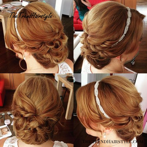 formal updo with a thin headband