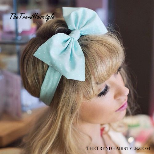 hairstyle with a bow headband for girls