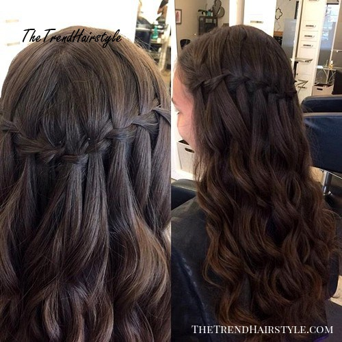 half up braided hairstyle for girls with long hair