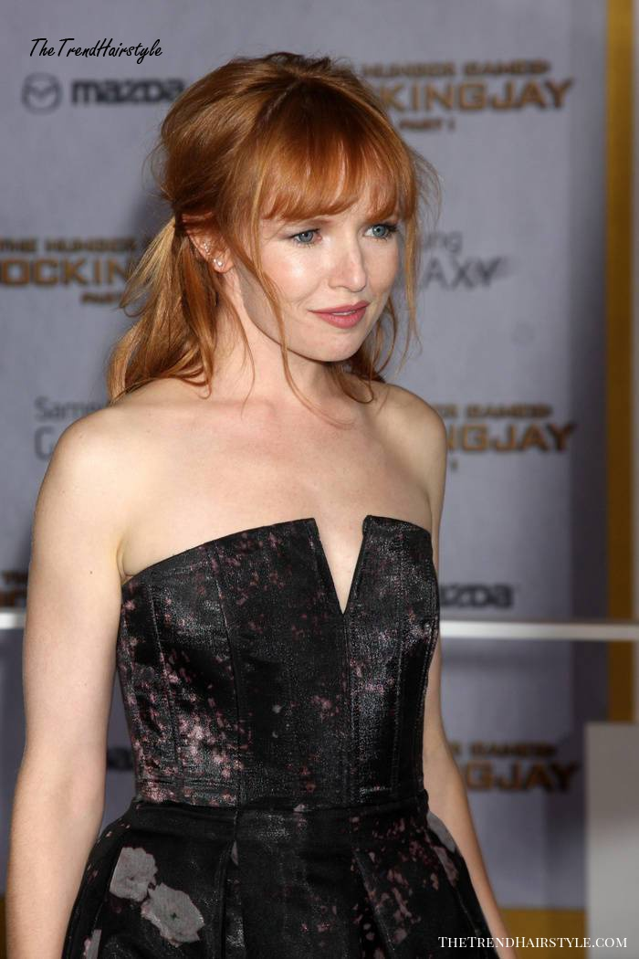 half up half down hairstyle for red hair