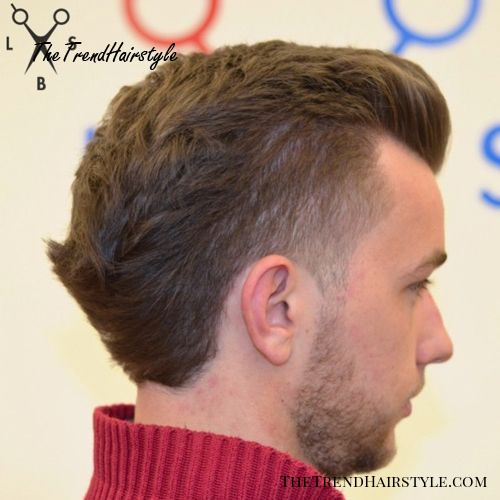 hipster pompadour with faded sides