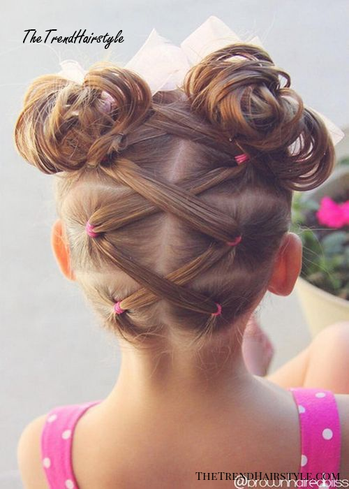 laced pigtails and double buns