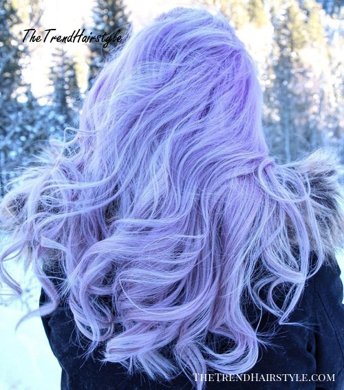 light pastel purple hair