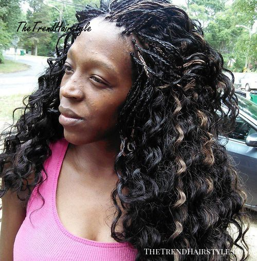 long curly tree braids