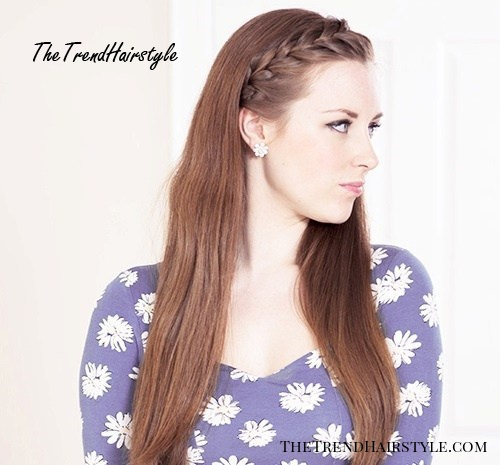 long hairstyle with braided bangs