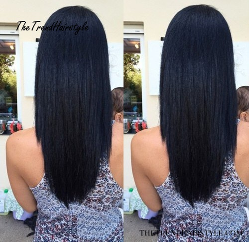 long layered U haircut