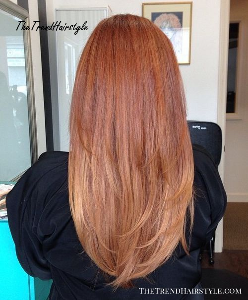 long layered red hairstyle