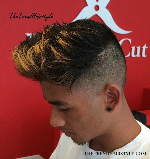 long top short sides hairstyle for thick hair