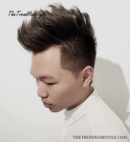 long top short sides men's hairstyle