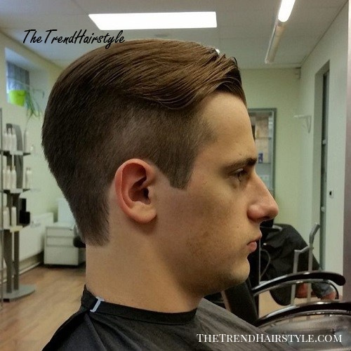 long top short sides preppy hairstyle for men