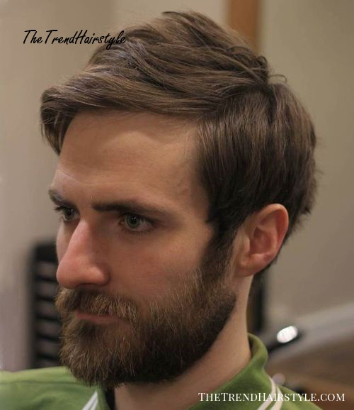 medium hipster hairstyle with beard