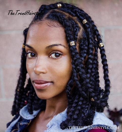 Braids With Bead Embellishments 40 Best Big Box Braids Hairstyles Jumbo Box Braids The Trending Hairstyle