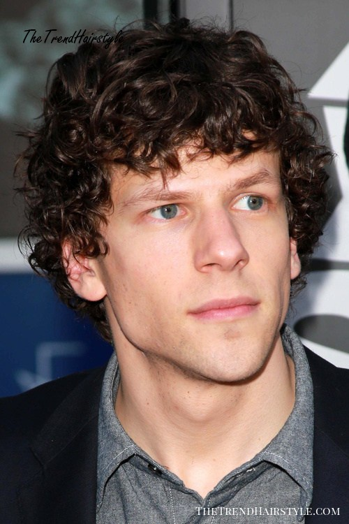 medium to short curly hairstyle for men