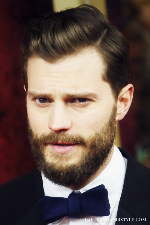 men's comb over hairstyle with a side part