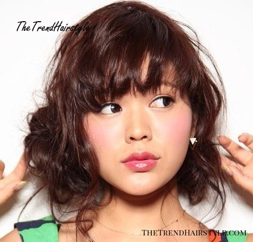 Light Jagged Bangs 40 Refreshing Variations Of Bangs For Round Faces The Trending Hairstyle