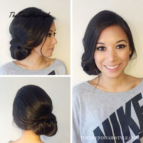 messy loose side updo