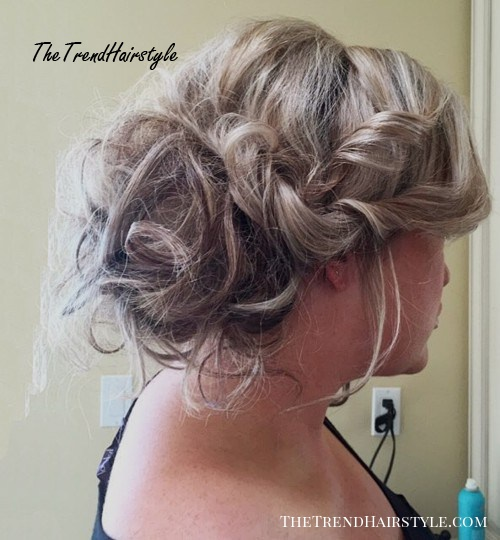 messy updo with side twists