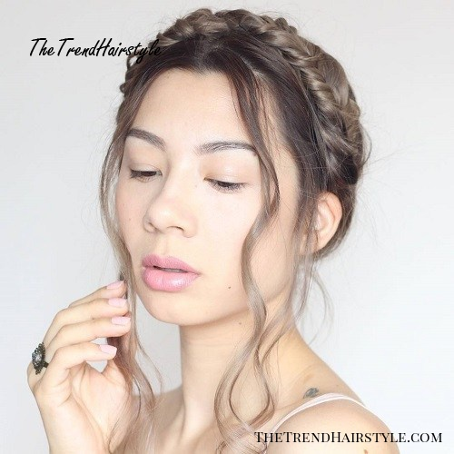 milkmaid braid with face-framing locks