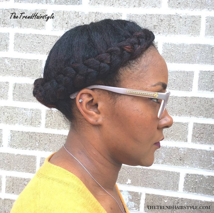 natural braided hairstyle
