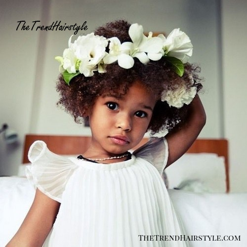 natural flower girl hairstyle