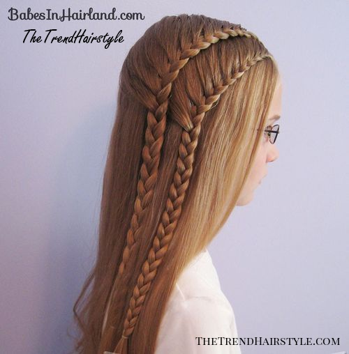 one sided double french braids