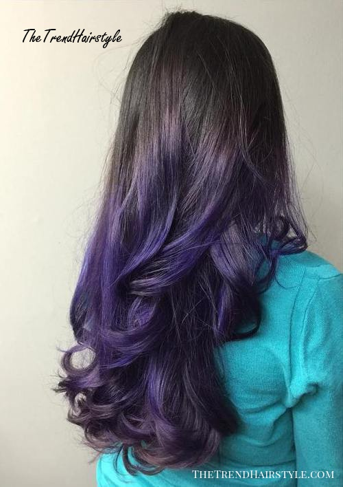 purple ombre for dark brown hair