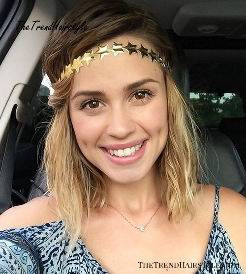 quick hairstyle with a disco headband