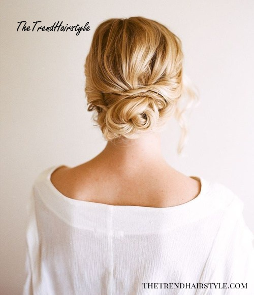 quick updo with a low bun