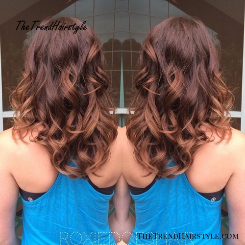 reddish brown subtle ombre