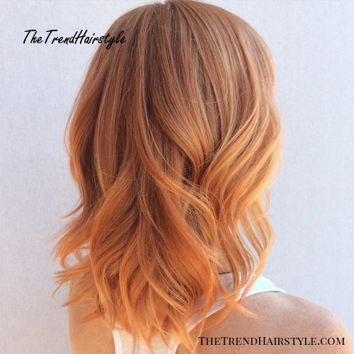 rosewood to strawberry blonde ombre