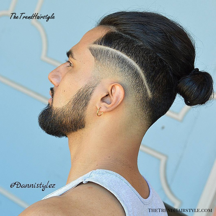 shaved line undercut with longer top