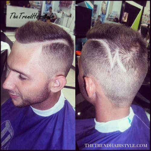 shaved side part hairstyle for men